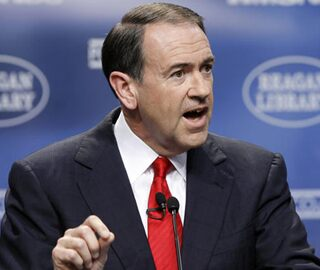 Mike Huckabee looking presidential