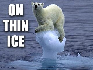 Caption this lonely polar bear global warming scare alert
