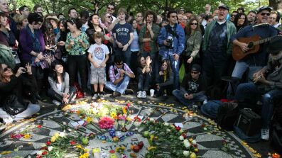 Fans Celebrate John Lennon's 70th Birthday in Central Park
