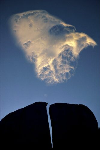 Split Rock and Cloud