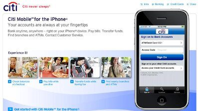 Citi iPhone App