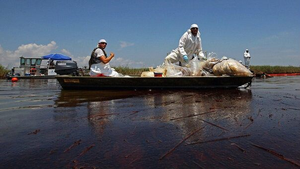 Oil Spill Cleanup Effort
