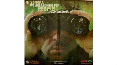Threatening Mexico Tourist Ad Invokes Hunting Arizonans ad taryn monster 397x224